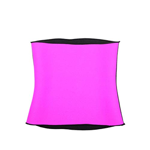 NAMENG Waist Trainer Body Shaper Belt Waist Cincher Tummy Plus Size Sweat Vest-Pink_M