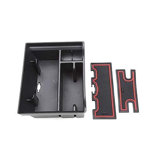 Bandeja organizadora de consola central DealMux para Model 3 Model Y 2021 Reposabrazos Cubby Cajón Caja de almacenamiento Accesorios