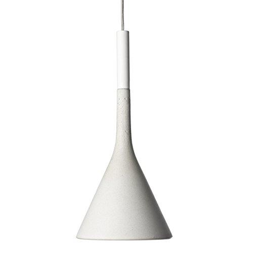 Foscarini Design/Modern Foscarini Pendelleuchte/Pendellampe/Hängelampe/Lampe/Leuchte Aplomb Sospensione grau/Innenbeleuchtung/Wohnzimmerlampe/Schlafzimmer/Küche Metall/Stein/Beton Ru