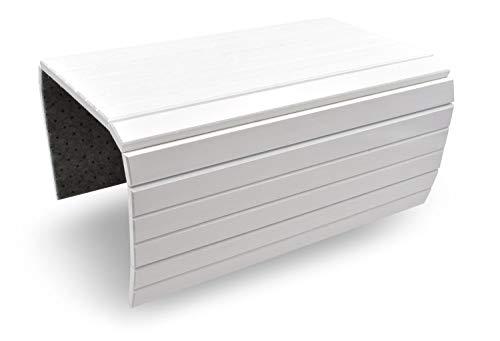 D&D Living Sofatablett Flextray   Flexible Couch-Ablage für Armlehne aus natürlichem Holz (50x35 cm, Weiß)