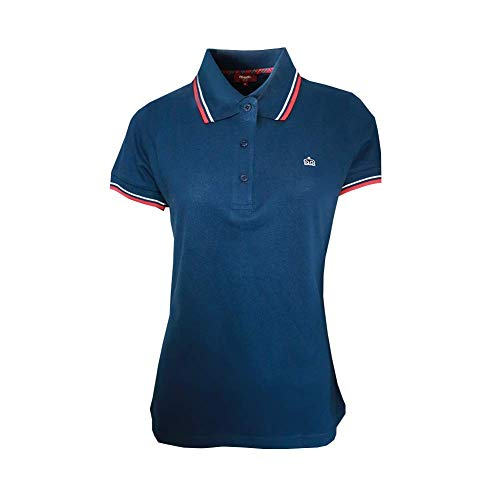 MERC London Damen Rita Polo Shirt Polohemd, Marino, M