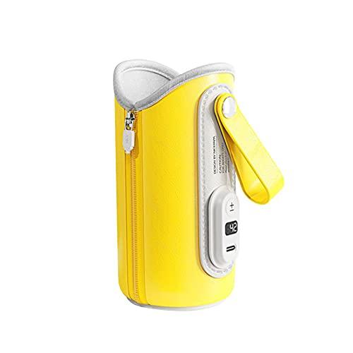 Calentador de agua portátil para preparar la fórmula del bebé, calentador de botella portátil USB botella de leche caliente para viajes, coche, sobre la marcha