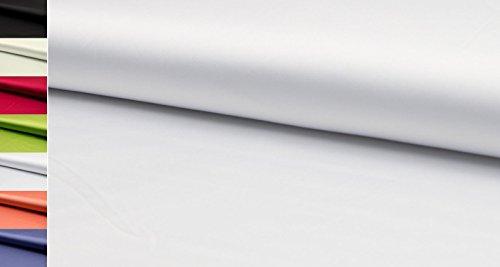 StoffBook STRETCHSATIN -SEIDIGER Griff- Stretch Satin Stoff Stoffe METERWARE,D401 (Weiß)