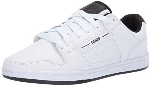 Osiris Men's Vice Skate Shoe, White/Black, 8.5 M US
