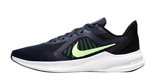 Nike Downshifter 10, Chaussure de Course Homme, Obsidian Lime Glow Black, 39 EU