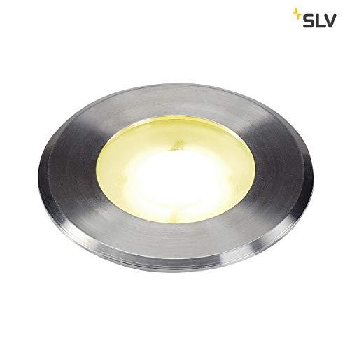 SLV DASAR® Flat, Outdoor LED Bodeneinbauleuchte, Edelstahl 304, 4000K, IP67, 4,3W