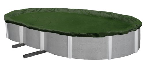 Blue Wave BWC820 Silver 12-Year 15-ft x 30-ft Oval Above Ground Pool Winter Cover,Forest Green -  Blue Wave Products