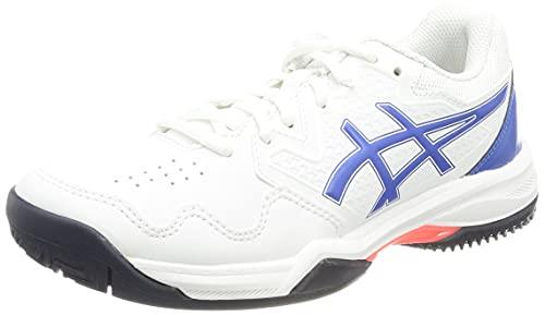 ASICS Damskie buty do tenisa żelowego 7 Clay, Biały Lapis Lazuli Blue - 41.5 EU