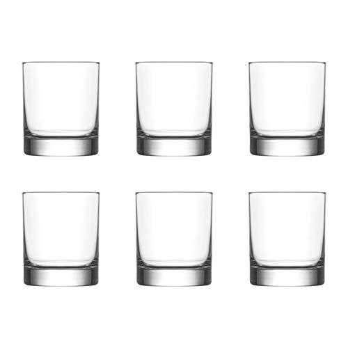 Lucenté 6PC Whiskey Cognac Spirits Tumbler Glass Home Bar Drinking Glasses - 245ml Capacity