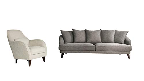 uqco Couch Modern Sofa Stoff 3-Sitzer Stuhl Möbel (2 1 Sitzer)