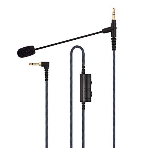 Boompro Gaming-Mikrofon für PlayStation PS4 oder Xbox One Controller, PC, Tablet, Laptop, Smartphone mit Lautstärkeregler (150 cm)