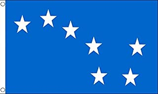 AZ FLAG Ireland Starry Plough Blue Flag 3' x 5' - Irish Citizen Army Flags 90 x 150 cm - Banner 3x5 ft
