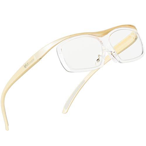 Kenko メガネ型拡大鏡 YUIルーペ レンズ交換式 ラージサイズ 倍率1.6倍 アイボリー KTL-5106L-IV
