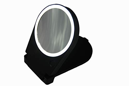Price comparison product image Floxite 15x Lighted Travel & Home Mirror,  Black