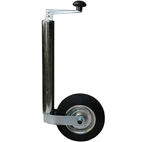 ZeoTioo Stützrad für PKW Anhänger Anhängerstützrad Vollgummireifen mit Stahlfelge 200kg