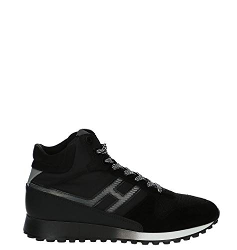 Luxury Fashion | Hogan Heren HXM4790BX10LPJ0353 Zwart Leer Hi Top Sneakers | Seizoen Outlet