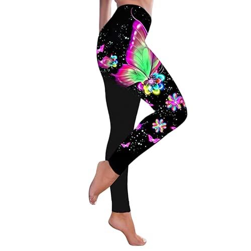 QTJY Pantalones de Yoga de Cintura Alta de Moda para Levantar la Cadera, Pantalones elásticos para Levantar la Cadera, Celulitis, Pantalones de Fitness J L