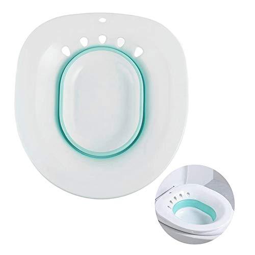Sitzbad über die Toilette tragbare Bidet für Standard-WC Vermeiden Hocken Personal Waschen Bidet Bowl für Reisen (Blue)