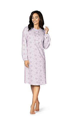 Comtessa Damen Nachthemd Knopfleiste Farbe: Lavendel Gr. 48/50