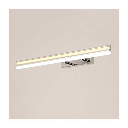 Lámpara Luz delantera del espejo LED Baño Espejo Gabinete Luz Maquillaje Lámpara de pared de óxido Retráctil Luces de baño (Color : Tricolor light)