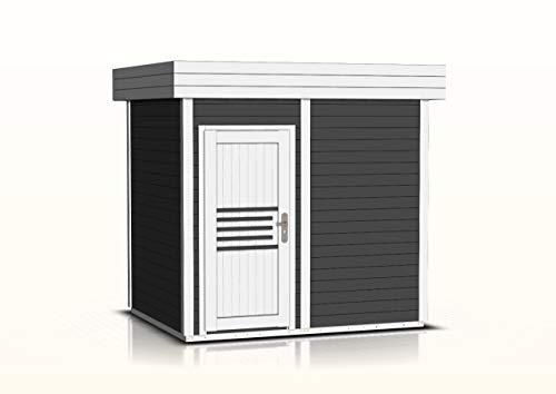 Tihama - Sauna (40 mm, 254 x 204 cm), color gris y blanco