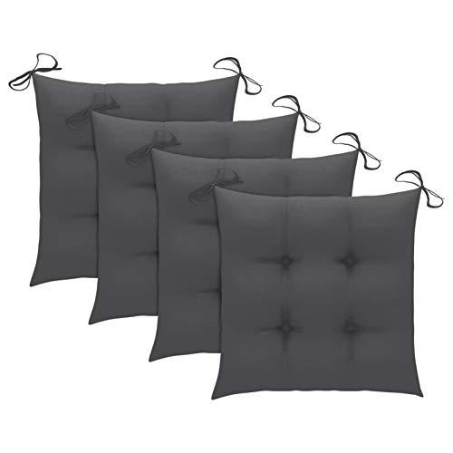 Tidyard Cuscini per Sedie Set da 4 pz,Cuscino per Sedia da Giardino 50x50 per Interni ed Esterni - Decorazione di mobili da Giardino di Colore Antracite