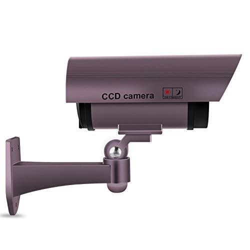 Cámara de Seguridad ficticia, cámara de Seguridad CCTV púrpura, Sistema de vigilancia de Bala Falsa giratoria, para bibliotecas, oficinas, almacenes, ferias comerciales