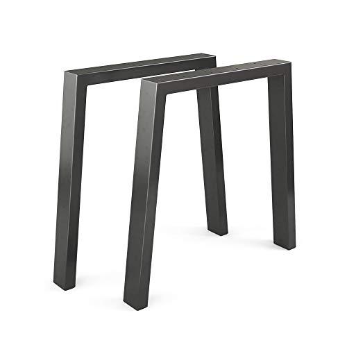 Vicco Loft Tischkufen Tischbeine DIY Tischgestell Couchtisch Esstisch Möbelfüße (U-Form - 72 cm)