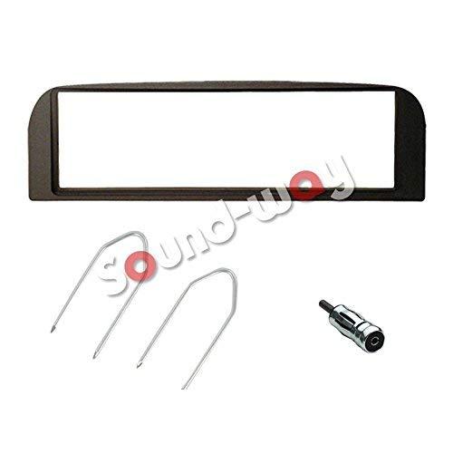 Sound Way Kit Montaggio Autoradio, Mascherina 1 DIN, Adattatore Antenna, Chiavi di Smontaggio Compatibile con Alfa Romeo 147, Alfa GT