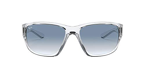 RB4300 Square Sunglasses, Transparent/CLEAR GRADIENT Blue, 63 mm