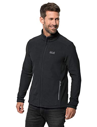 Jack Wolfskin Herren Fleecejacke Midnight Moon, Black, L, 1703853