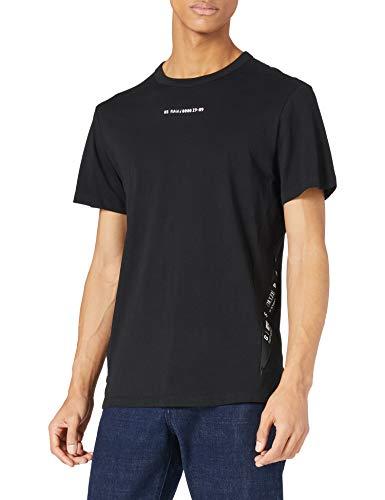 G-STAR RAW Mens Sport A Tape T-Shirt, dk Black 336-6484, L