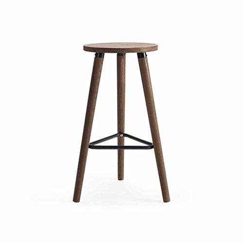 XAGB Sillas de barra de madera maciza Taburetes de barras altas sillas simples modernas altas sillas hotel café
