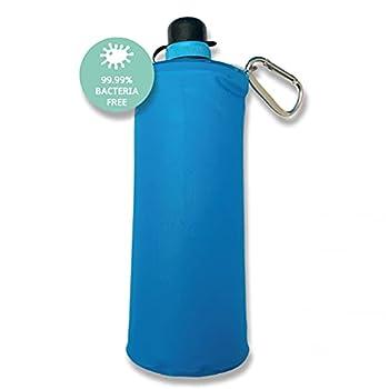Purificateur d'eau portable Faircap Mini Soft Flask 1L - Filtre 99,99% des bactéries et autres agents pathogènes - Pour les bouteilles de boissons gazeuses en PET de 28 mm.