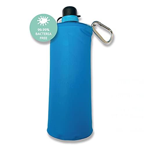 Purificador de agua portátil Faircap Mini Soft Flask 1L - Filtra 99.99% de bacterias y otros patógenos - Ideal para viajes y deportes de aventura - Para botellas de PET de bebidas gaseosas de 28 mm