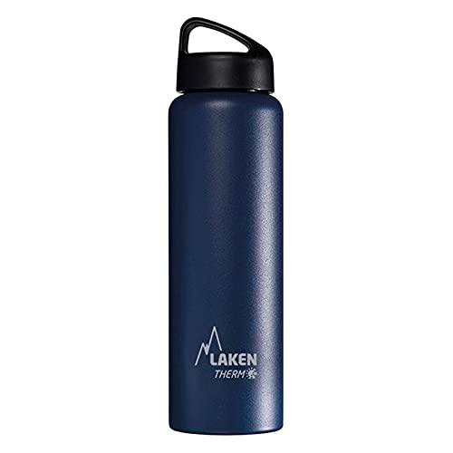 Laken Classic Botella Térmica Acero Inoxidable 18 8, Aislamiento de Vacío con Doble Pared y Boca Ancha, Azul, 1000 ml