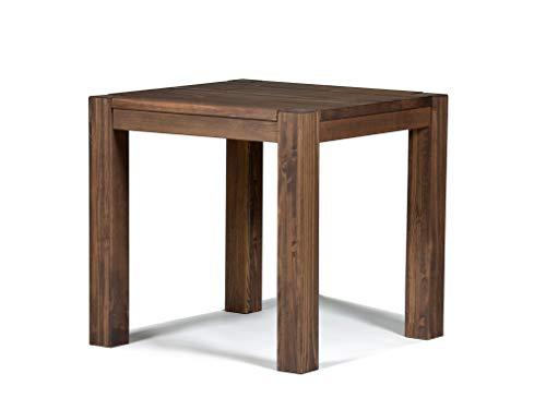 Naturholzmöbel Seidel Esstisch 80x80cm Rio Bonito Farbton Cognac braun Pinie Massivholz geölt und gewachst Holz Tisch quadratisch für Esszimmer Wohnzimmer Küche, Optional: passende Bänke