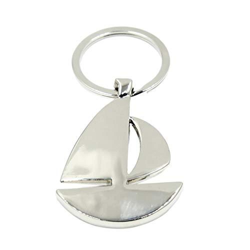 KYMLL Segelboote Schlüsselbund Metallschnalle Design Kleines Schiff Schlüsselanhänger Anhänger Geschenk Für Frauen Und Männer Kreative Kreative Geschenke Wie Gezeigt