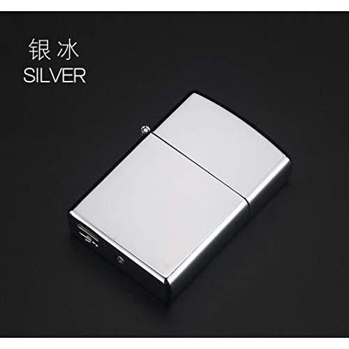 AL USBライター プラズマ ダブル アーク 亜鉛合金 シガー シルバー AL-BB-2375-SI
