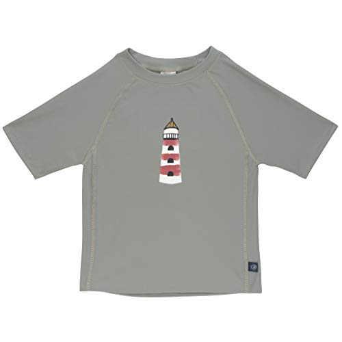 LÄSSIG Baby Kinder Schwimmshirt Badeshirt Kurzarm UV-Schutz/Splash & Fun Short Sleeve Rashguard Lighthouse, 18 mo, mehrfarbig, 52 g
