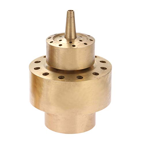 Hicello Water Fountain Nozzle 1.5' Brass DN40 Two Layers Fountain Nozzle Column Sprinkler Spray Head for Garden Pond Bring Beautiful Visual Effects