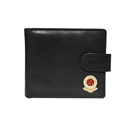 Doncaster Rovers Football Club Black Leather Wallet