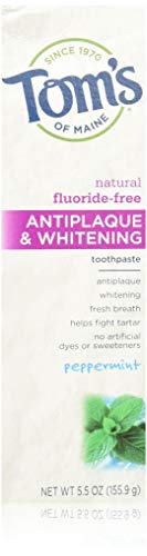 Tom's of Maine, Antiplaque & Whitening Fluoride-Free Toothpaste Peppermint 5.5 oz by Tom's of Maine