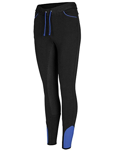 BUSSE Damen Vollbesatz Reit-Leggings LISSY, 40, schwarz (diva blue)