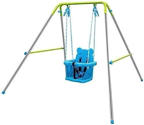 MUZIDP Outdoor Tree Swing Folding Portable Kids Safety Swing,with Support Back Baby Seat, Toddler Swing Set with Swing Stand for Playground Indoor Outdoo ( Color : Default )