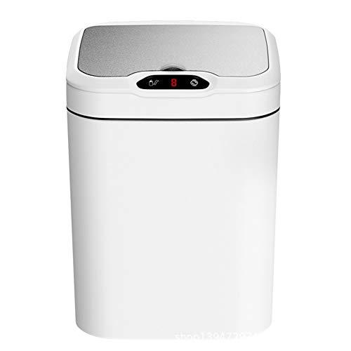 Xyxiaolun Induktion Mülltonne 15L Intelligente Sensor Kick Kick Trash Domotische Große Weiße (Gegen Gebühr)