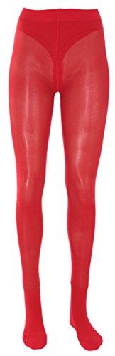 Fibrotex Damenstrumpfhosen mit Spezialeffekt 3D Stützstrumpfhose 30 DEN, Farben alle:28 rot, Größe:L (42/44)