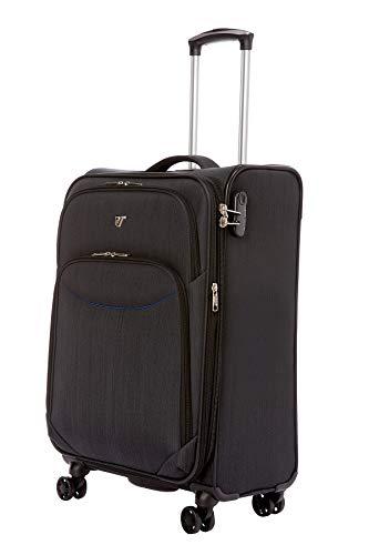 Verage – reiskoffer, zacht, uittrekbaar, zeer licht, 55 cm, voor dames en heren, 4 gevoerde wielen, handbagage vliegtuig, voor Ryanair, Easyjet, Lufthansa enz.