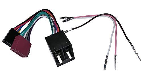 Aerzetix - Cavo prolunga 20 cm connettore spina ISO maschio femmina 16 pin 8 + 8 poli per autoradio, precablata, fascio universale alimentazione + suono altoparlanti .