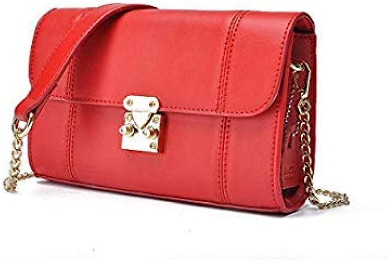 Bloomerang JIANXIU Brand Women Messenger Bags Split Leather Bag Tassen Shoulder Crossbody Chain Small Bag Solid color Fashion Tote Bag color Red 20x13x6cm